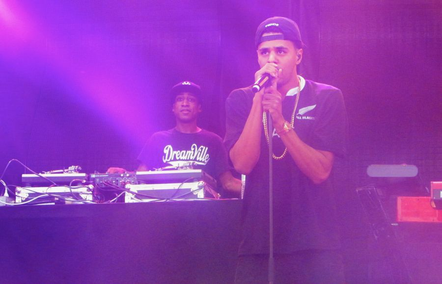 J. Cole on the Blu Freedom Stage, April 26.